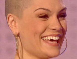 Jessie J showed off her newly shaved head on Friday night's Comic Relief show