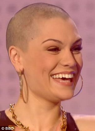 Jessie J showed off her newly shaved head on Friday nights Comic Relief show photo