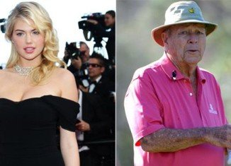 Kate Upton visited Arnold Palmer at Bay Hill PGA Tour event