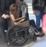 Lady Gaga has traded in her custom 24-carat-gold Mordekai wheelchair designed by Ken Borochov for a Louis Vuitton creation that she took for a spin through the streets of Chicago on Thursday