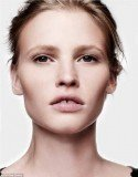 Lara Stone looks fresh-faced and glowingly natural in the images, released to promote CK One Colour's new 3-in-1 foundation