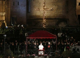 Leading his first Way of the Cross as Pontiff, Pope Francis said only a few words are necessary to understand God's message