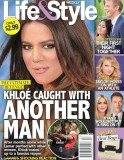 Life & Style magazine shows a picture of Khloe Kardashian jumping into The Game's arms in LA's Runyon Canyon Park last month