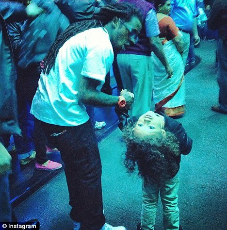 Lil Wayne spent a day at an aquarium with his 4-old-son Dwayne just three days before he was rushed to hospital in LA while suffering uncontrollable seizures