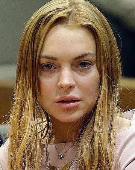 Lindsay Lohan has strongly denied reports she tried to slip into a Hollywood nightclub hours after she agreed to three months of rehab in a last-minute plea deal with prosecutors