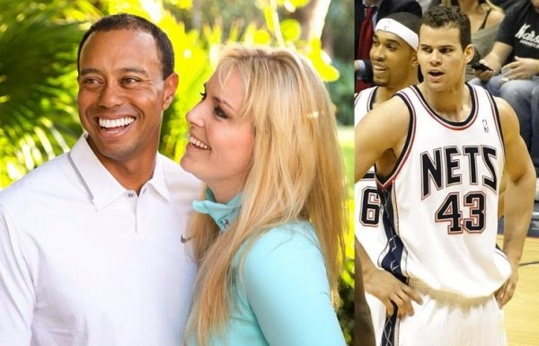 Lindsey Vonn was allegedly dating Kris Humphries before romancing Tiger Woods