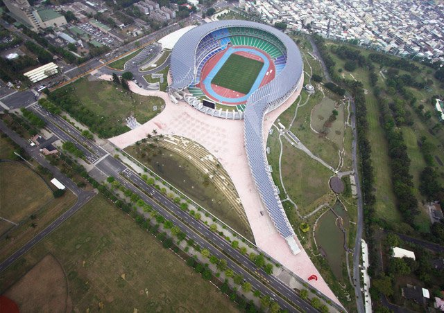 Main Stadium for The World Games 2009, Kaohsiung, Taiwan, 2009 Photo by Fu Tsu Construction Co., Ltd.