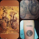 Miley Cyrus got a new tattoo on her forearm, a mini replica of Leonardo da Vinci's anatomical heart drawing