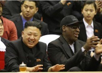 North Korea's leader Kim Jong-un, who is known to be a basketball fan, was seen attending a game with Dennis Rodman, who is in the country filming a documentary with a US media company