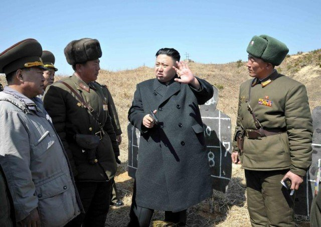 North Korea announces it has ordered artillery and rocket units into combat posture to prepare to target US bases in Hawaii Guam and the US mainland 640x453 photo