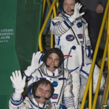 Soyuz spacecraft has docked at the ISS after a journey of less than six hours