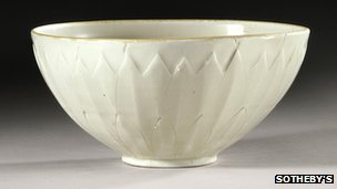 The 1,000-year-old Ding bowl from the Northern Song Dynasty was bought for $3 in 2007