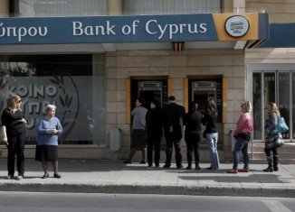 Yiannis Kypri, chief executive of Bank of Cyprus, the biggest bank in the country, has been ousted by the central bank