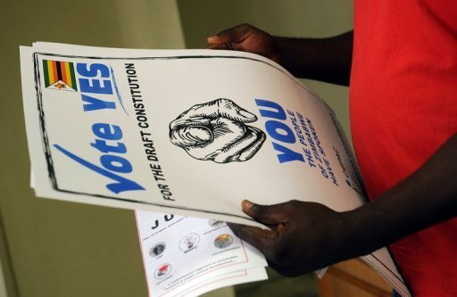 Zimbabwe starts voting in key referendum on a new constitution amid simmering political tensions photo