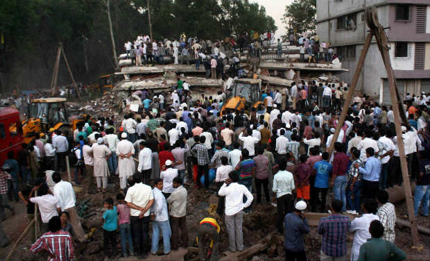 A building collapse has killed at least 34 people in Thane, near Indian city of Mumbai