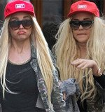 Amanda Bynes has changed her outrageous hair extensions which covered up her shaved head