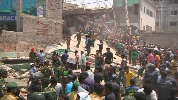 An eight-storey building collapsed in the Bangladeshi capital, Dhaka, killing at least 70 people and injuring other 200