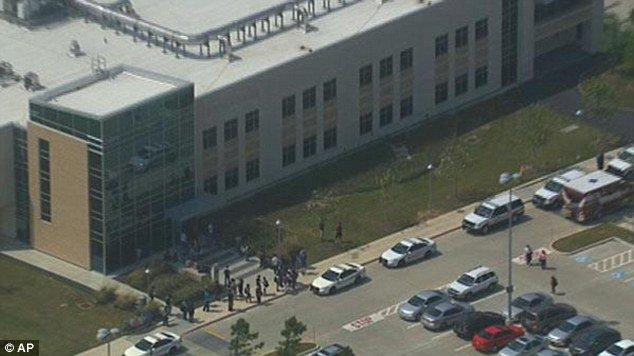 At least 14 people have been wounded in a mass stabbing after a man ran amok at Lone Star College in Houston