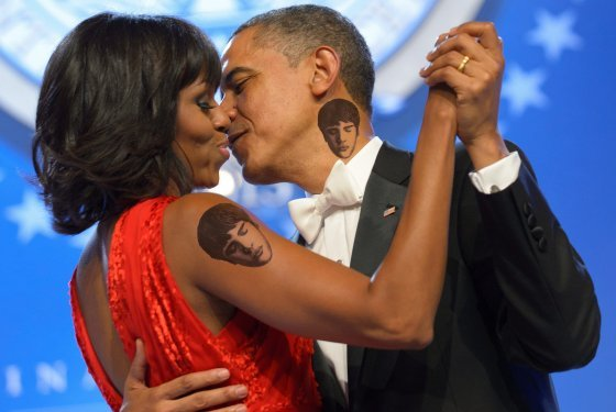 Barack Obama has warned his daughters Malia and Sasha that if they get tattoos, he and his wife Michelle will get matching ones on the same place on their bodies