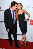 Charlie Sheen and Lindsay Lohan reunited on the red carpet at the premiere of Scary Movie 5 at ArcLight's Cinerama Dome in Hollywood