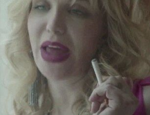 Courtney Love stars in a new web-based advertisement for NJOY electronic cigarettes