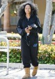Diana Ross looked a far cry from her usual self as she headed out without a scrap of make-up and loose fitting casual clothes