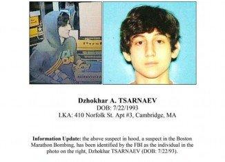Dzhokhar A. Tsarnaev FBI wanted poster