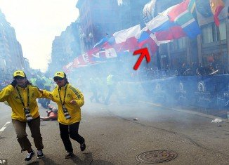 Dzhokhar and Tamerlan Tsarnaev planted one of the bombs under the Russian flag on Boston Marathon route