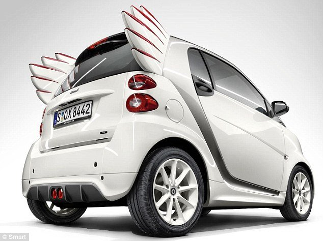 Smart Forjeremy Smart Car With Rocket Shaped Wings As