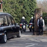 Former British PM Margaret Thatcher was this afternoon cremated at Mortlake Crematorium in South-West London