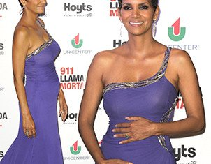 Halle Berry displayed her prominent baby bump as she hit the red carpet in Buenos Aires