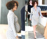 Halle Berry when she was pregnant with Nahla in 2008