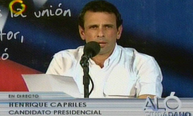 Henrique Capriles has threatened to take action over disputed votes he claims were stolen by Nicolas Maduros government 640x385 photo