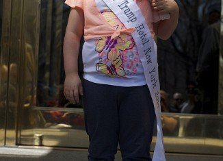 Honey Boo Boo was crowned Miss Trump Hotel New York 2013 during his visit to the Big Apple