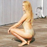 Ireland Baldwin kicked off her modeling career with a sizzling swimsuit spread in the New York Post on Thursday