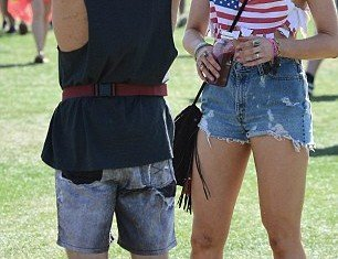 Ireland Baldwin was joined by her boyfriend Slater Trout at Coachella festival