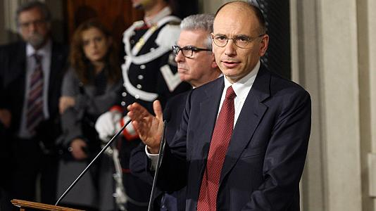 Italian Prime Minister-designate Enrico Letta has agreed new government ending two months of political deadlock