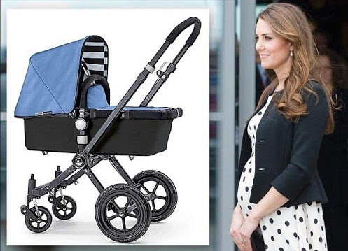 Kate Middleton is said to have told a group of Army wives at a recent drinks reception in Aldershot that she has bought a Bugaboo pram in light blue