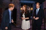 Kate Middleton joined Princes William and Harry for a wizard day out at the Harry Potter film studios