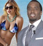 Kate Upton was apparently spotted kissing P Diddy at Miami