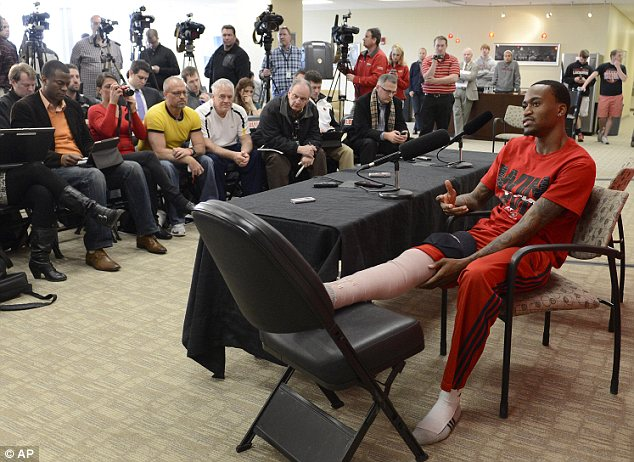 Kevin Ware admitted to a gaggle of reporters at the university that he did not know Louisville had gone on to win the game until he woke up on Monday morning, with the NCAA trophy by his side