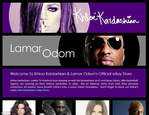 "Khloe Kardashian and Lamar Odom have removed all of the items for sale on their eBay store after they faced allegations of running ""fraudulent"" cancer charity Cathy's Kids"
