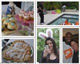 Khloe Kardashian has unveiled several candid snaps on her blog of her family celebrating Easter at their Calabasas home