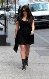 Kim Kardashian stepped out in black Lanvin mini dress in New York