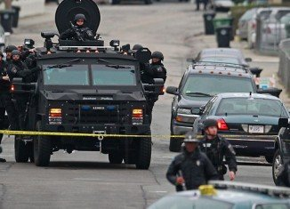 Large parts of the city of Boston remain in virtual lockdown amid a major manhunt for Dzhokhar Tsarnaev