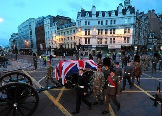Margaret Thatcher will be given a funeral ceremony with full military honors before a private cremation on April 17