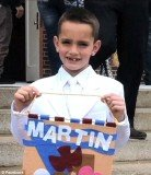 Martin Richard may very nearly have cheated death after walking out to embrace his father Bill Richard as he went to cross Boston Marathon finishing line