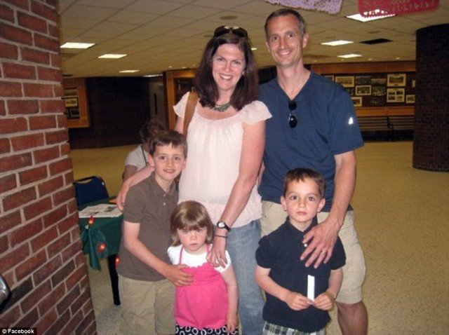 Martin Richard, right, pictured with his mother Denise, sister Jane, older brother Henry and father Bill