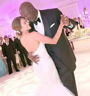 Michael Jordan married former model Yvette Prieto in Palm Beach