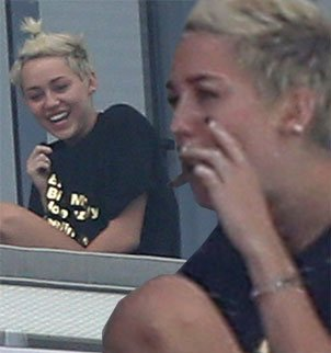 Miley Cyrus sparked concerns once again when she was pictured enjoying what appeared to be a hand-rolled cigarette on her hotel balcony
